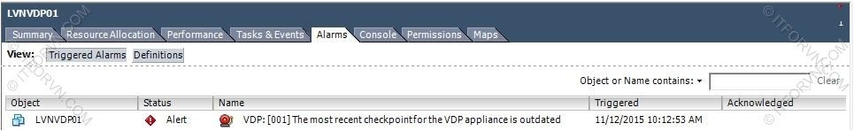 ITFORVN.COM Fix-Loi-VDP0 Fix Lỗi VDP : The most recent checkpoint for the vdp appliance is outdated