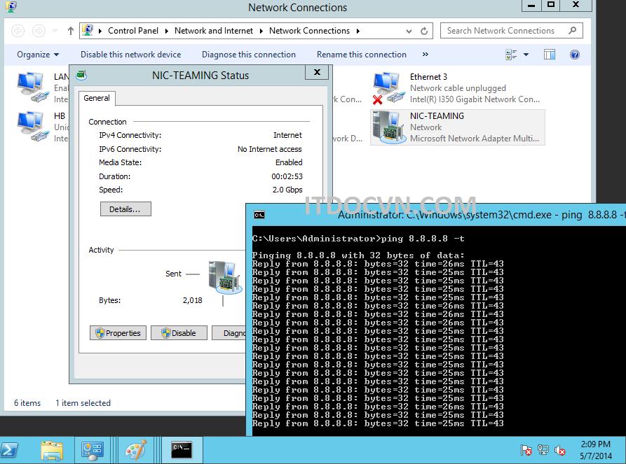 NIC Teaming Windows Server 2012-8