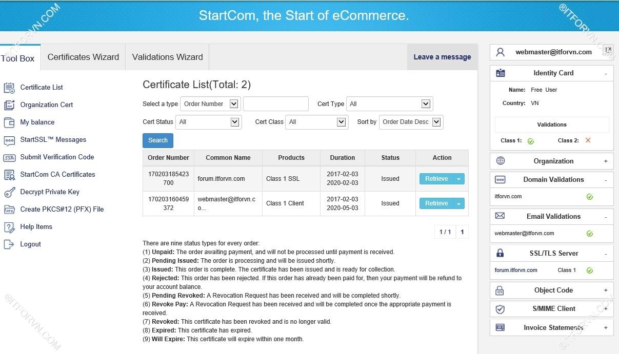 Setup Start SSL Nginx 21 - Cấu hình SSL Cho web Server - Part 1 Đăng ký SSL