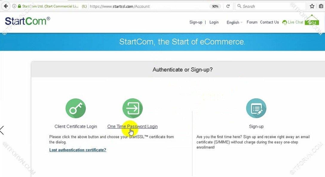 Setup Start SSL Nginx 7 - Cấu hình SSL Cho web Server - Part 1 Đăng ký SSL