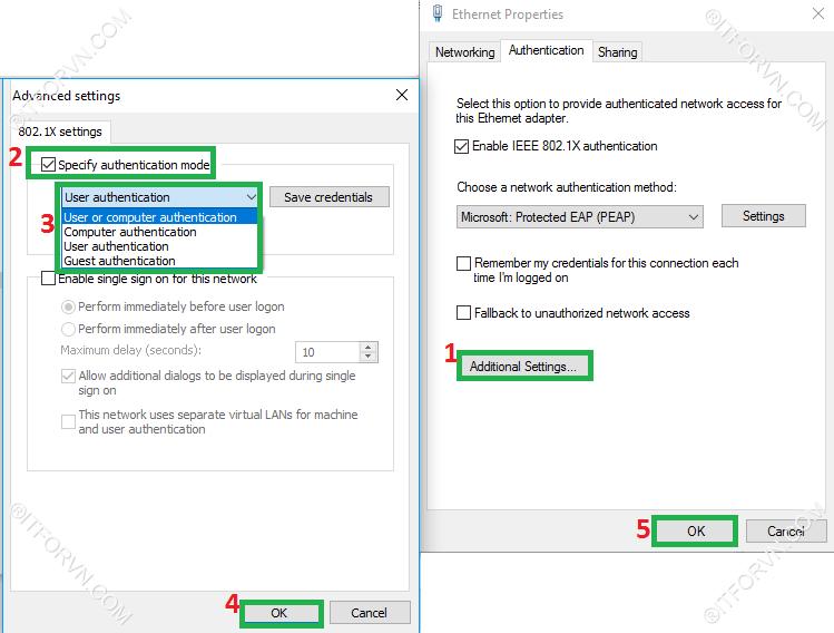 ITFORVN.COM Dynamic-Vlan-Test-3 Cấu hình dynamic vlan - part 4 test tại end user + triển khai policy cho 802.1x wire
