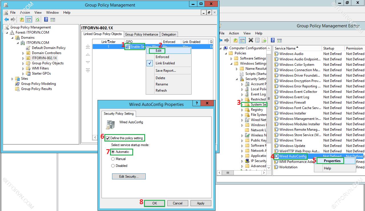 ITFORVN.COM Dynamic-Vlan-Test-5 Cấu hình dynamic vlan - part 4 test tại end user + triển khai policy cho 802.1x wire