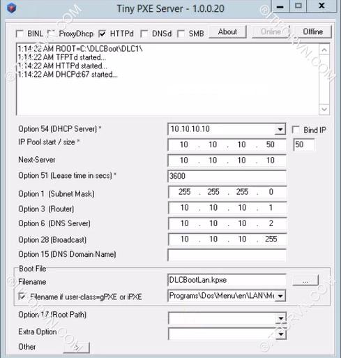 Hirrent boot install windows os qua network 4 - [All In One] Sử dụng Hirent boot + Cài đặt Windows + Ghost OS qua LAN chỉ với vài thao tác