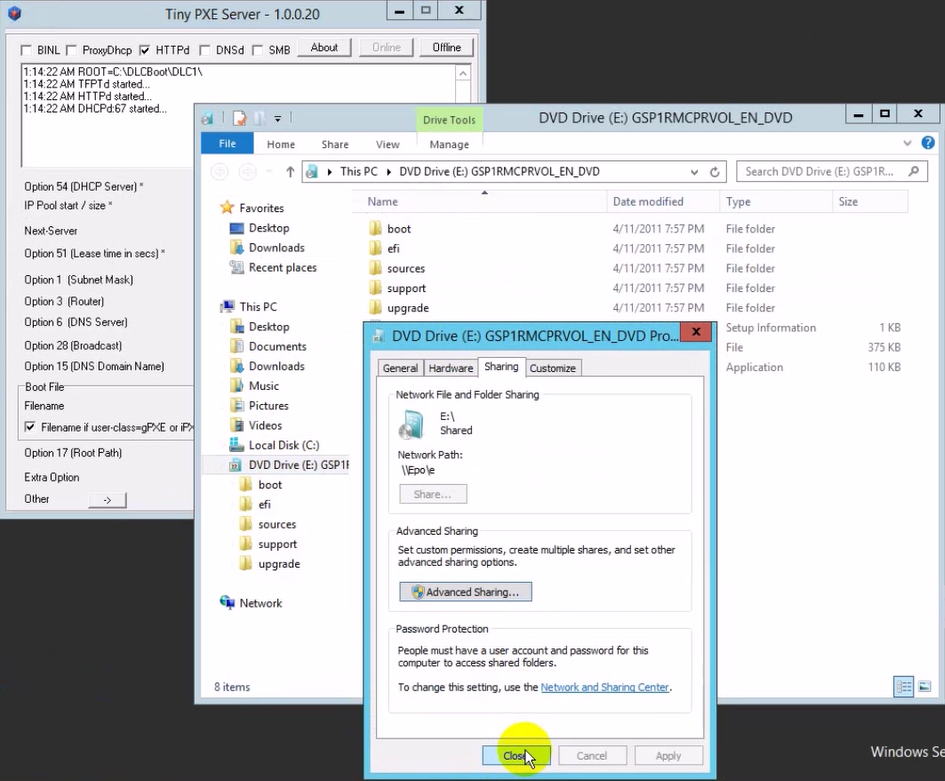 Hirrent boot install windows os qua network 9 - [All In One] Sử dụng Hirent boot + Cài đặt Windows + Ghost OS qua LAN chỉ với vài thao tác