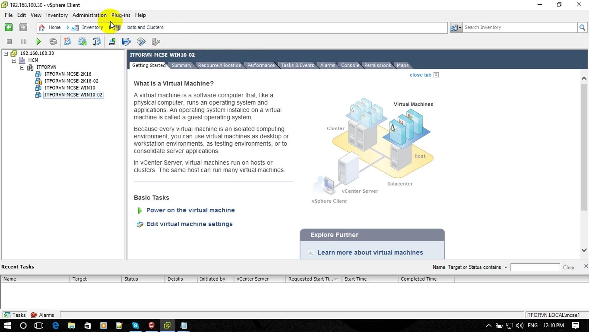 ITFORVN Bài 1 Part1 Cài đặt Windows Server 2016 12 - [Tự học MCSA MCSE 2016] - Lab-1-Part1-Cài đặt Windows Server 2016