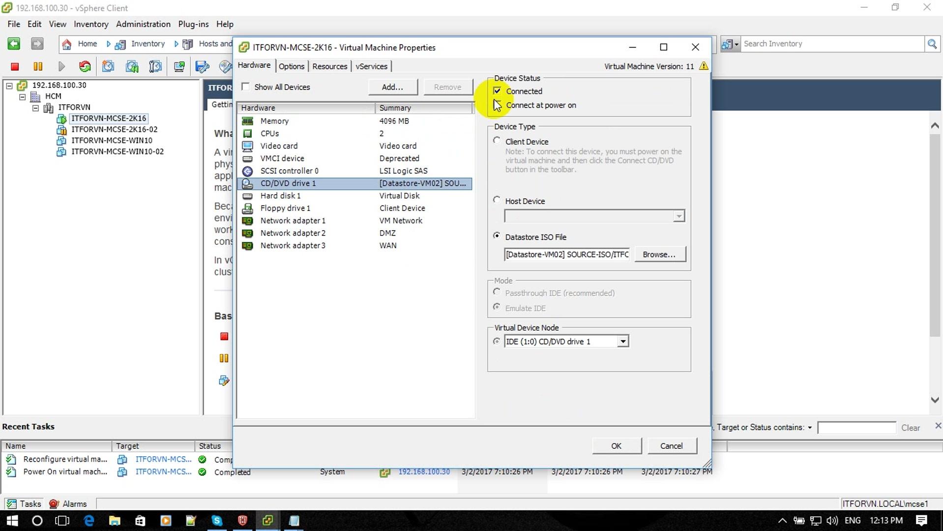 ITFORVN Bài 1 Part1 Cài đặt Windows Server 2016 18 - [Tự học MCSA MCSE 2016] - Lab-1-Part1-Cài đặt Windows Server 2016