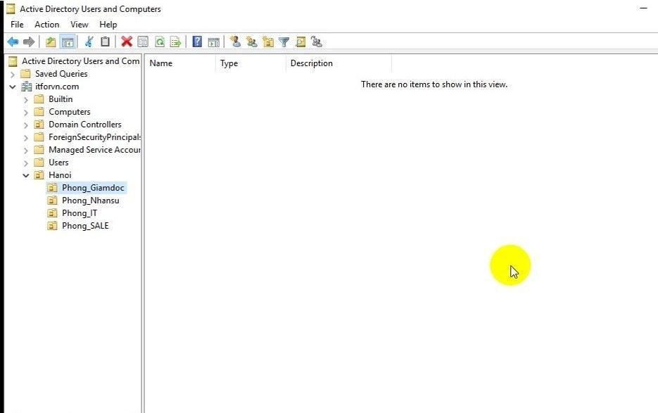 ITFORVN Bài 10 Cấu hình OU Group User trong Active Directory 0508 e1493117728492 - [Tự học MCSA MCSE 2016]-Lab 10-Cấu hình OU Group User trong Active Directory
