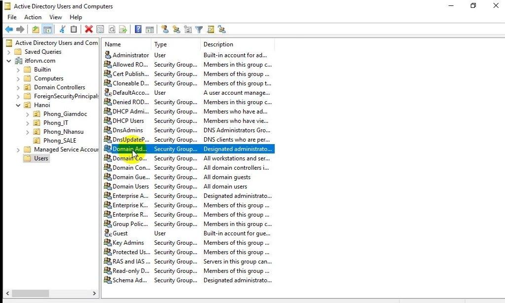 ITFORVN Bài 10 Cấu hình OU Group User trong Active Directory 1807 e1493120069807 - [Tự học MCSA MCSE 2016]-Lab 10-Cấu hình OU Group User trong Active Directory