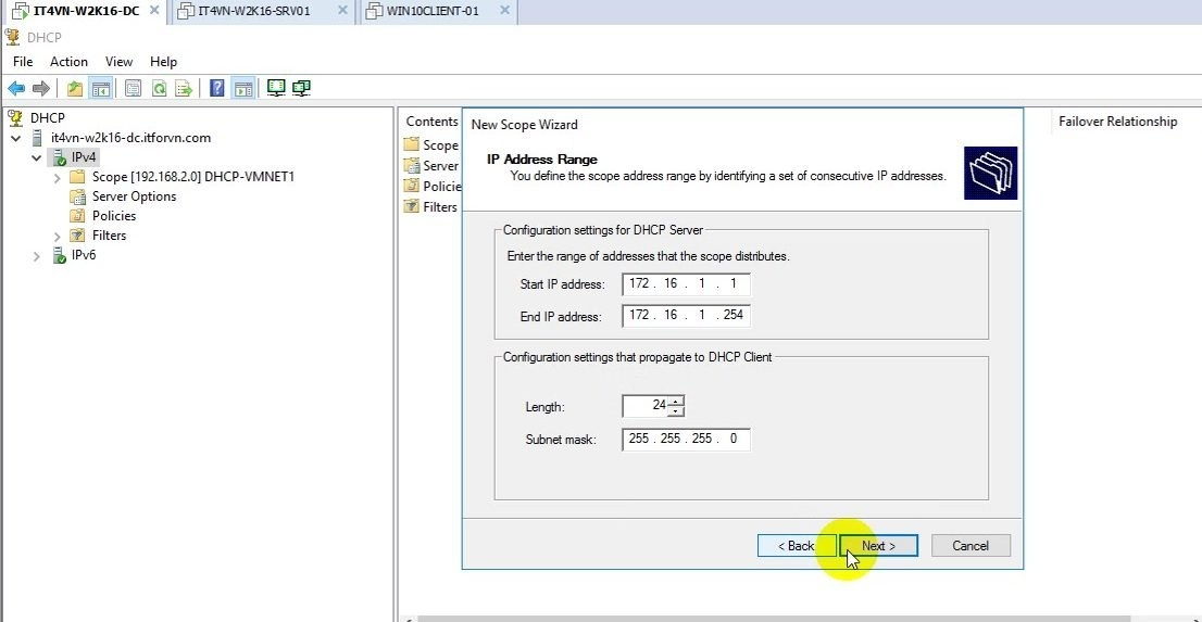 ITFORVN Bài 11 Cấu hình DHCP Relay Agent 0492 e1493157758110 - [Tự học MCSA MCSE 2016] -Lab 11-Cấu hình DHCP Relay Agent trên Windows Server 2016