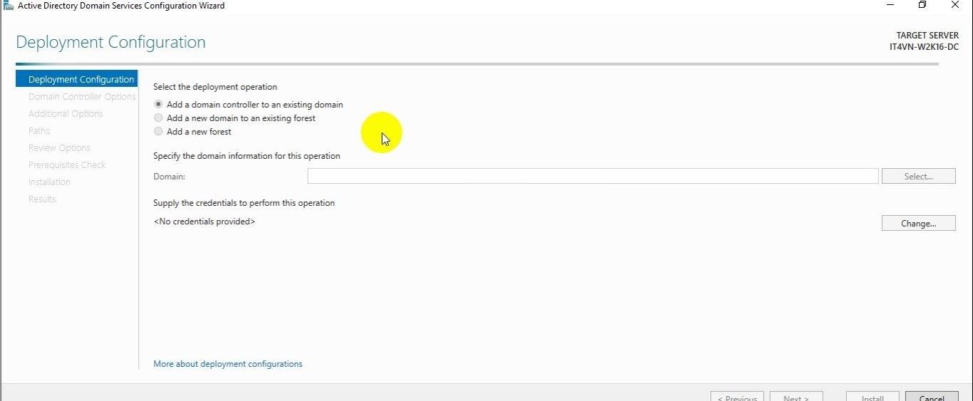 ITFORVN Bài 2 Nâng cấp lên Domain Controller và join domain 14 e1491863077276 - [Tự học MCSA MCSE 2016] - Lab 2 Nâng cấp server lên Domain Controller và join domain