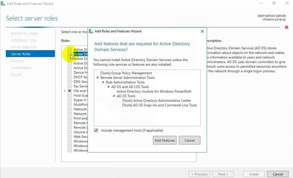 ITFORVN Bài 5 Cấu hình Additional Domain 0727 e1492169385880 - [Tự học MCSA MCSE 2016]-Lab 5- Cấu hình Additional Domain Controller trên Windows server 2016