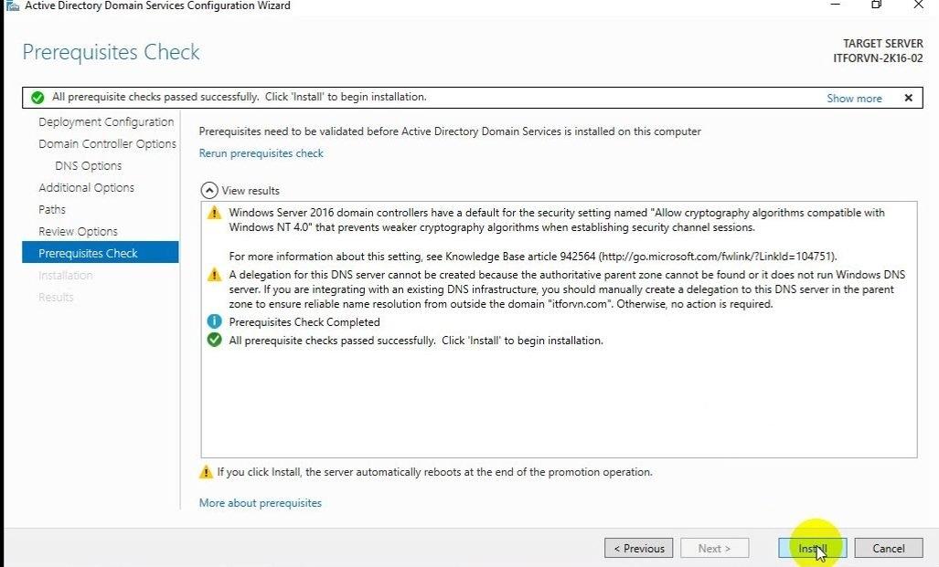 ITFORVN Bài 5 Cấu hình Additional Domain 1089 e1492170506339 - [Tự học MCSA MCSE 2016]-Lab 5- Cấu hình Additional Domain Controller trên Windows server 2016