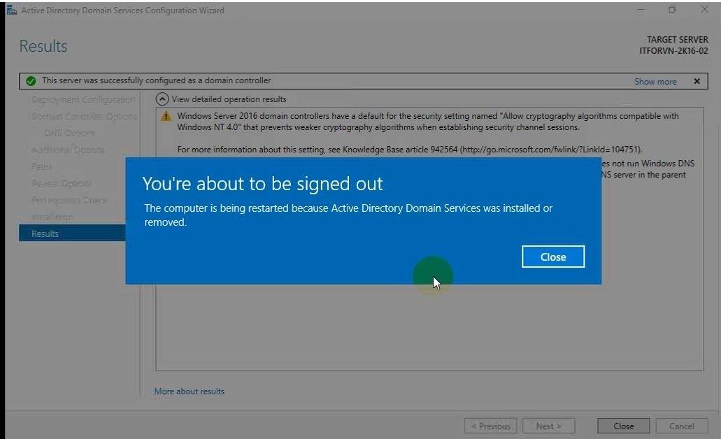 ITFORVN Bài 5 Cấu hình Additional Domain 1133 e1492170653315 - [Tự học MCSA MCSE 2016]-Lab 5- Cấu hình Additional Domain Controller trên Windows server 2016