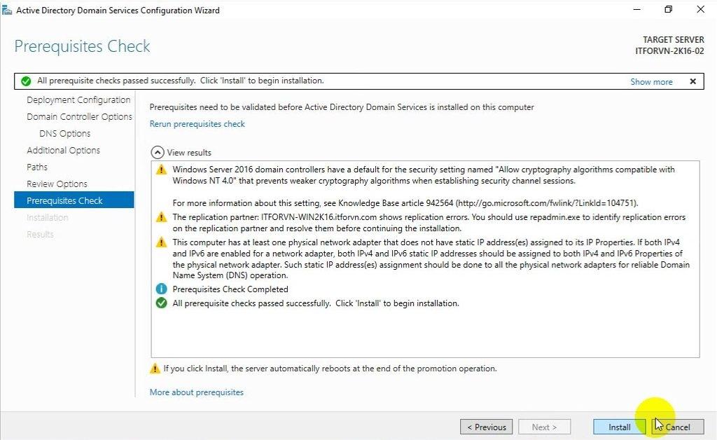 ITFORVN Bài 6 Cấu hình Child Domain 1335 e1492364337834 - [Tự học MCSA MCSE 2016] -Lab 6- Cấu hình Child Domain trên Windows server 2016