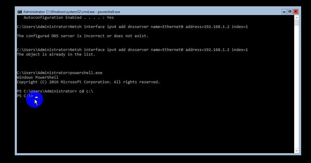 ITFORVN Bài 8 Part 1 Nâng cấp Windows Server Core lên Domain Controller Join Domain 0490 e1492774166401 - [Tự học MCSA MCSE 2016]-Lab 8- Part1-Nâng cấp Windows Server Core 2016 lên Domain Controller và join domain