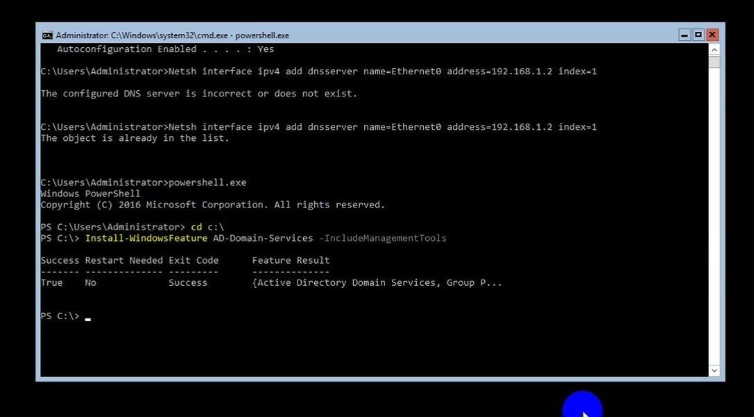 ITFORVN Bài 8 Part 1 Nâng cấp Windows Server Core lên Domain Controller Join Domain 0686 e1492774460741 - [Tự học MCSA MCSE 2016]-Lab 8- Part1-Nâng cấp Windows Server Core 2016 lên Domain Controller và join domain