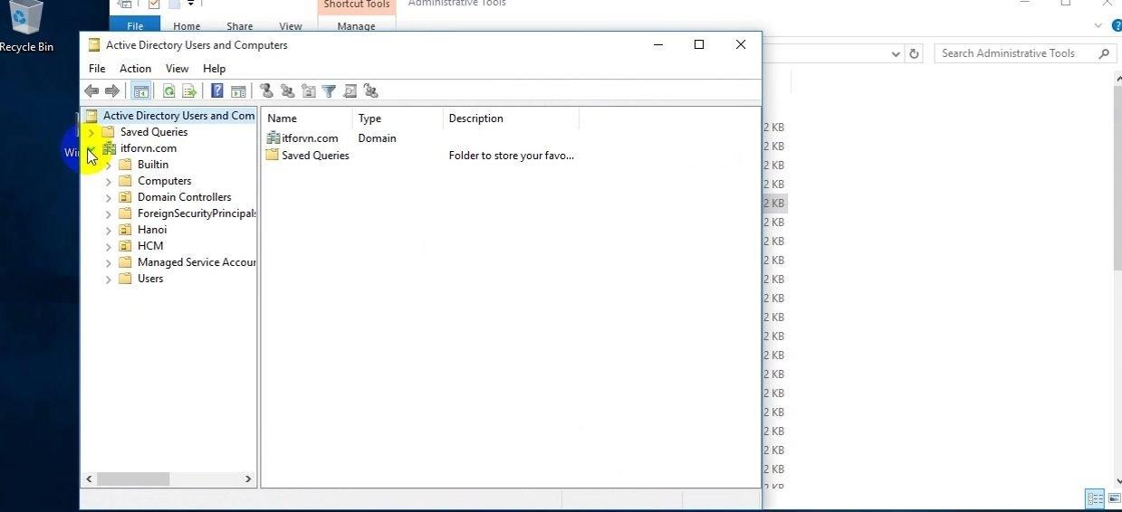 ITFORVN Bài 8 Part2 Quản trị Windows Server Core 2016 bằng tool RSAT 0899 e1492866189757 - [Tự học MCSA MCSE 2016]-Lab 8-Part 2- Quản trị Windows Server Core 2016 bằng tool RSAT