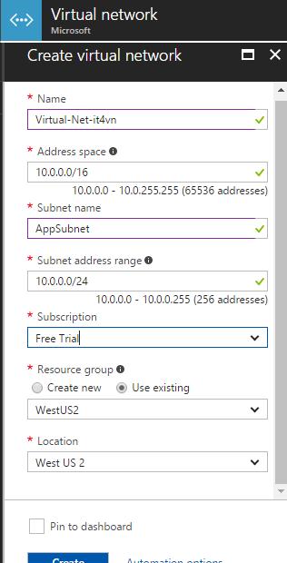 ITFORVN.COM 1-11 Cấu hình IIS frontend và SQL backend với Azure Resource Manager