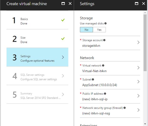 ITFORVN.COM 1-29 Cấu hình IIS frontend và SQL backend với Azure Resource Manager