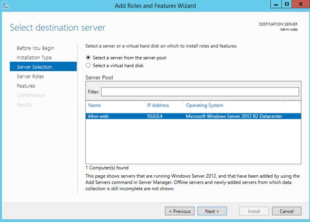 ITFORVN.COM 1-39 Cấu hình IIS frontend và SQL backend với Azure Resource Manager