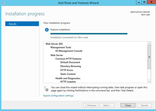 ITFORVN.COM 1-42 Cấu hình IIS frontend và SQL backend với Azure Resource Manager