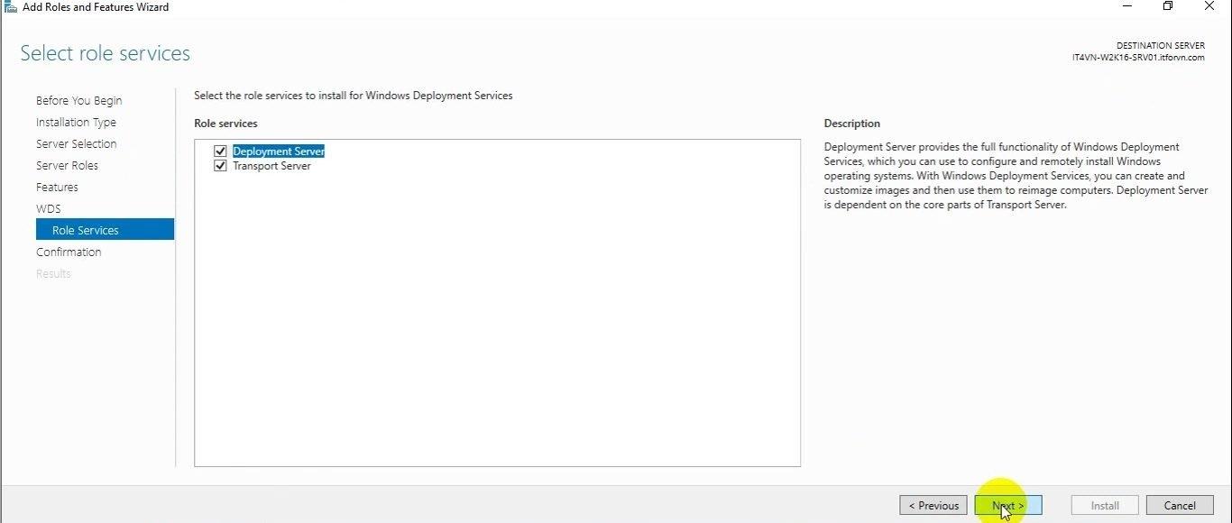 ITFORVN Bài 13 Cấu hình Windows Deployment Service 2016 0597 e1494244448535 - [Tự học MCSA MCSE 2016]-Lab 13- Cấu hình Windows Deployment Service 2016 (WDS)