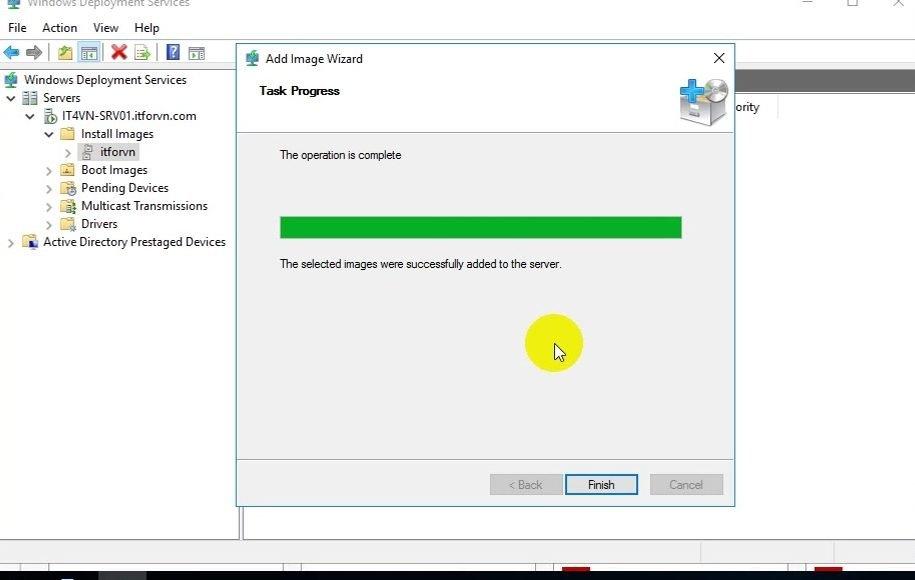 ITFORVN Bài 13 Cấu hình Windows Deployment Service 2016 1322 e1494280309627 - [Tự học MCSA MCSE 2016]-Lab 13- Cấu hình Windows Deployment Service 2016 (WDS)