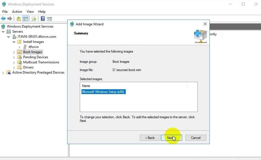 ITFORVN Bài 13 Cấu hình Windows Deployment Service 2016 1355 e1494284141170 - [Tự học MCSA MCSE 2016]-Lab 13- Cấu hình Windows Deployment Service 2016 (WDS)