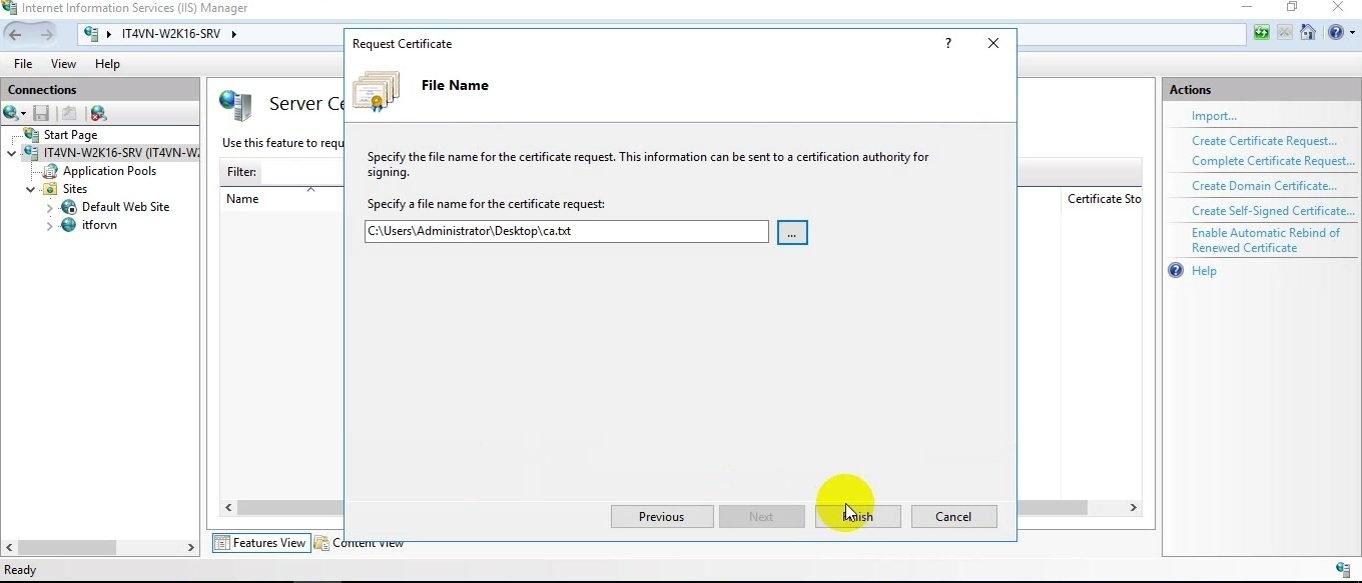 ITFORVN Bài 14 Cấu hình IIS Web Server HTTP HTTPS trên Windows Server 2016 1829 e1494893606310 - [Tự học MCSA MCSE 2016]-Lab 14-Cấu hình IIS Web Server trên Windows Server 2016