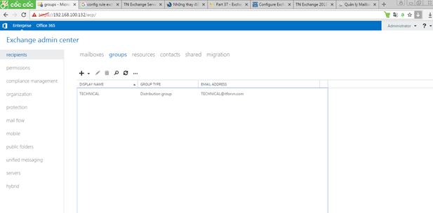 ITFORVN.COM aaaaa-37 Cấu hình Exchange Hybird và DirSync quản lý User AD bằng Azure