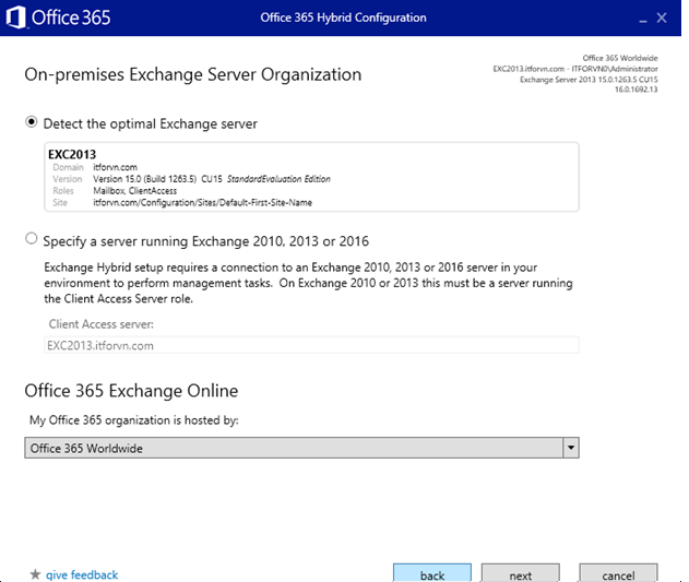 ITFORVN.COM aaaaa-65 Cấu hình Exchange Hybird và DirSync quản lý User AD bằng Azure