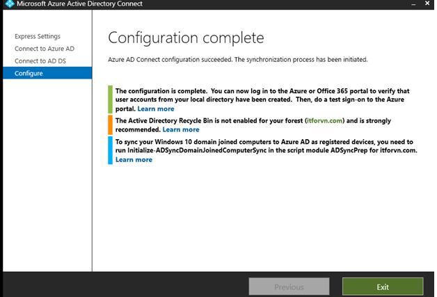 ITFORVN.COM aaaaa-80 Cấu hình Exchange Hybird và DirSync quản lý User AD bằng Azure