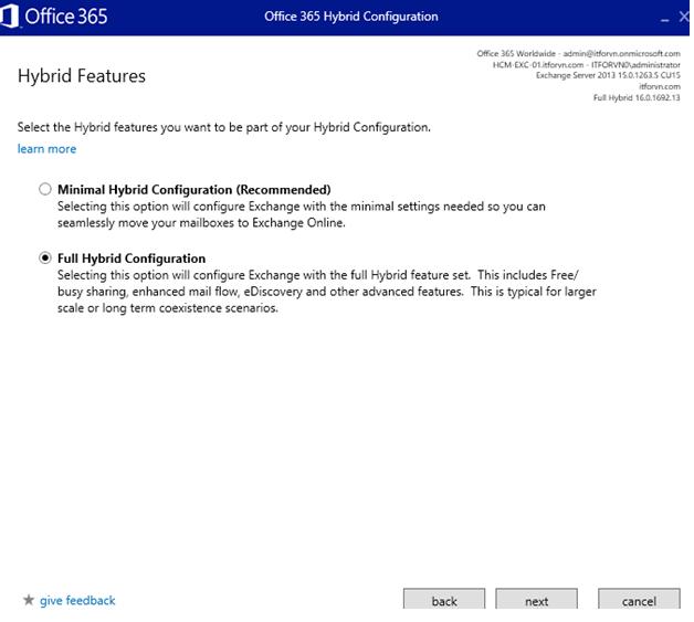 ITFORVN.COM aaaaa-82 Cấu hình Exchange Hybird và DirSync quản lý User AD bằng Azure