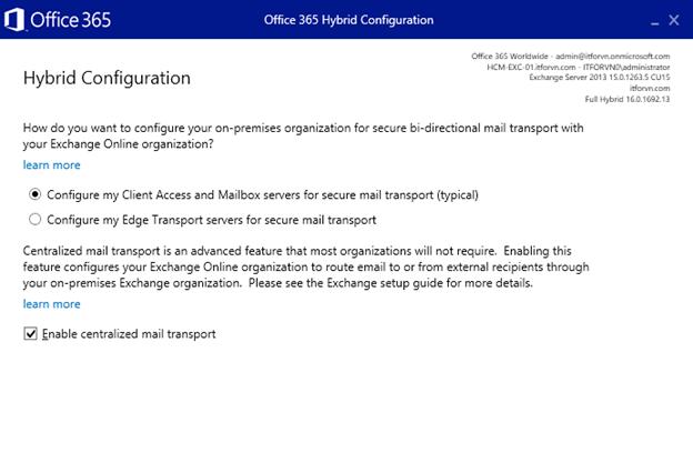 ITFORVN.COM aaaaa-86 Cấu hình Exchange Hybird và DirSync quản lý User AD bằng Azure