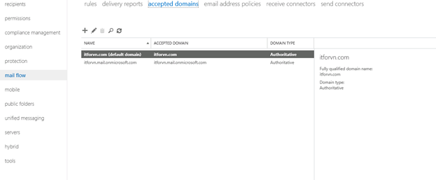 ITFORVN.COM aaaaa-96 Cấu hình Exchange Hybird và DirSync quản lý User AD bằng Azure
