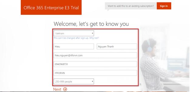 a 1 - Cấu hình office 365 từ [A - Z] - part 1 - đăng ký thử nghiệm gói E3 và Tùy biến domain trong Office 365