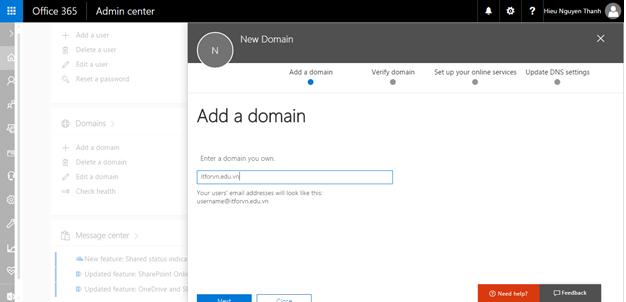 a 10 - Cấu hình office 365 từ [A - Z] - part 1 - đăng ký thử nghiệm gói E3 và Tùy biến domain trong Office 365