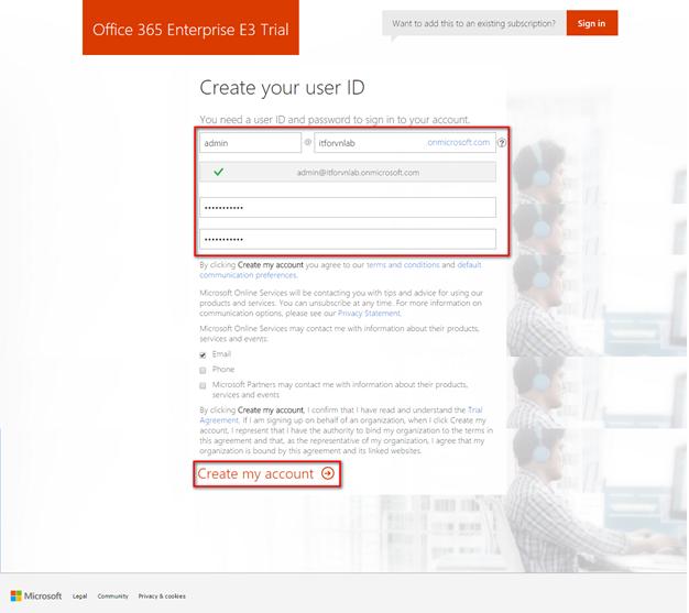 a 2 - Cấu hình office 365 từ [A - Z] - part 1 - đăng ký thử nghiệm gói E3 và Tùy biến domain trong Office 365