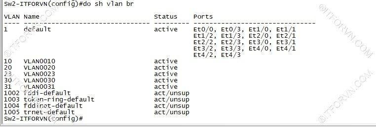 ITFORVN.COM New0121image10 Tự Học CCNA Lab 3: Cấu hình VLAN, Trunking, VTP Tự Học ccna ccna