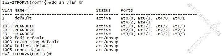 ITFORVN.COM New0125image14 Tự Học CCNA Lab 3: Cấu hình VLAN, Trunking, VTP Tự Học ccna ccna