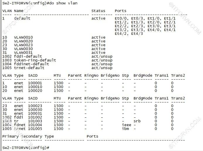 ITFORVN.COM New0135image9 Tự Học CCNA Lab 3: Cấu hình VLAN, Trunking, VTP Tự Học ccna ccna