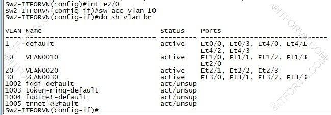ITFORVN.COM New0139image18 Tự Học CCNA Lab 3: Cấu hình VLAN, Trunking, VTP Tự Học ccna ccna