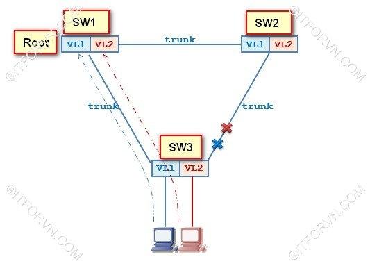 ITFORVN.COM STP-concept- Tự Học CCNA Bài 8: Giao Thức RSTP, pVST+ Tự Học ccna ccna