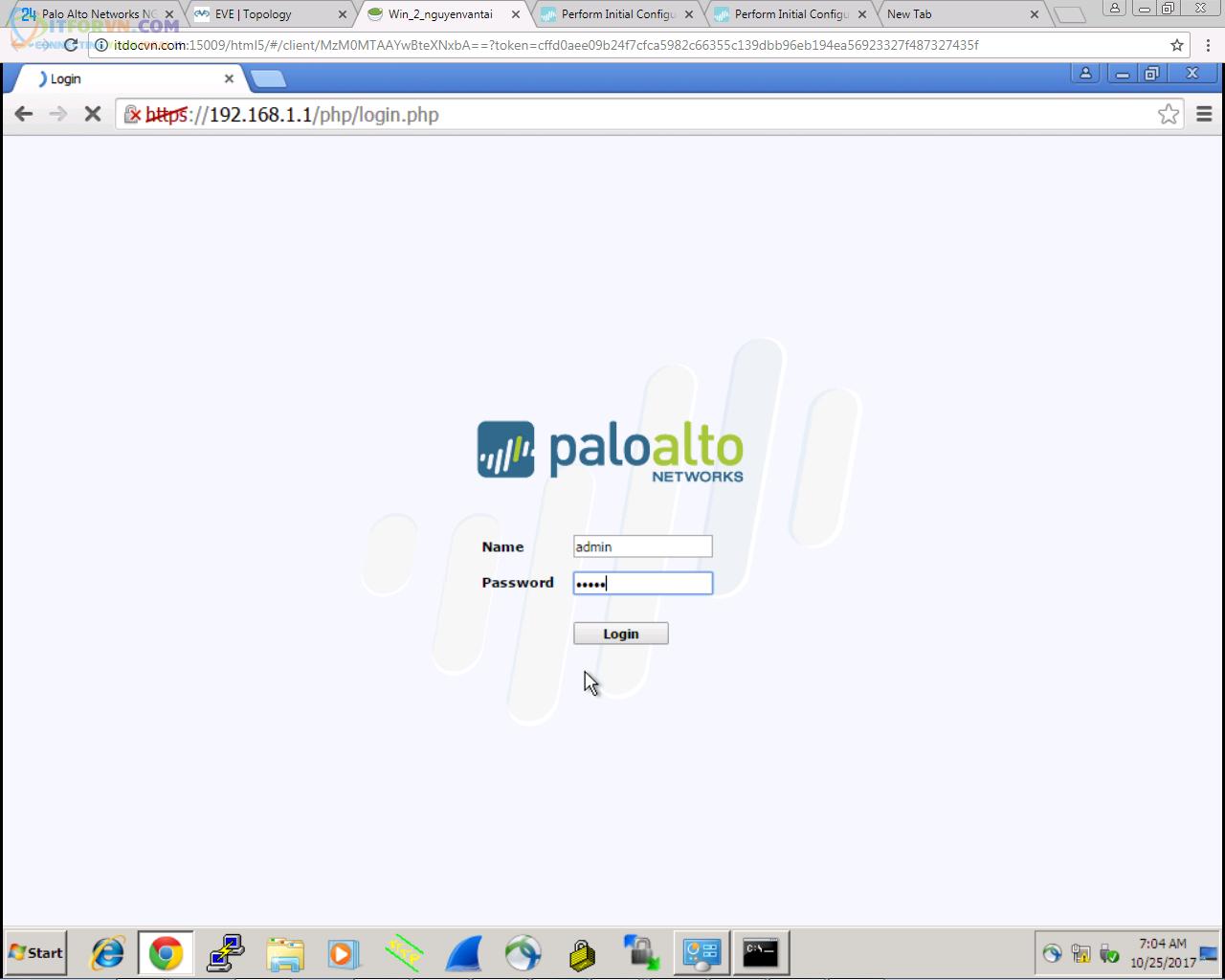 Upload Firmware PaloAlto Eve8 - Up Firmware Palo Alto Trên EVE
