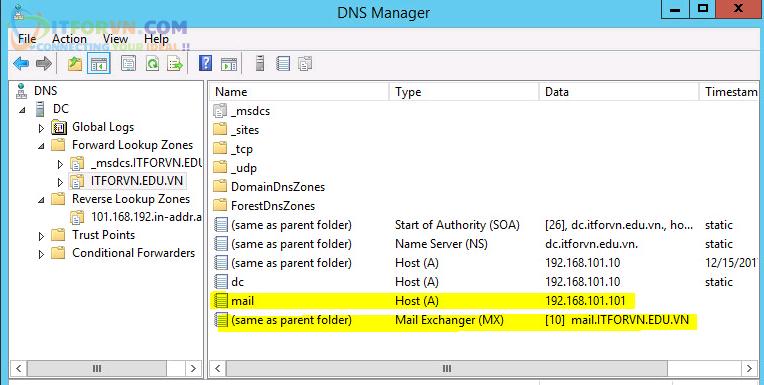 Cấu hình iRedMail Server - DNS