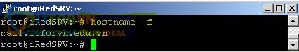 Cấu hình iRedMail Server - Kiểm Tra Hostname