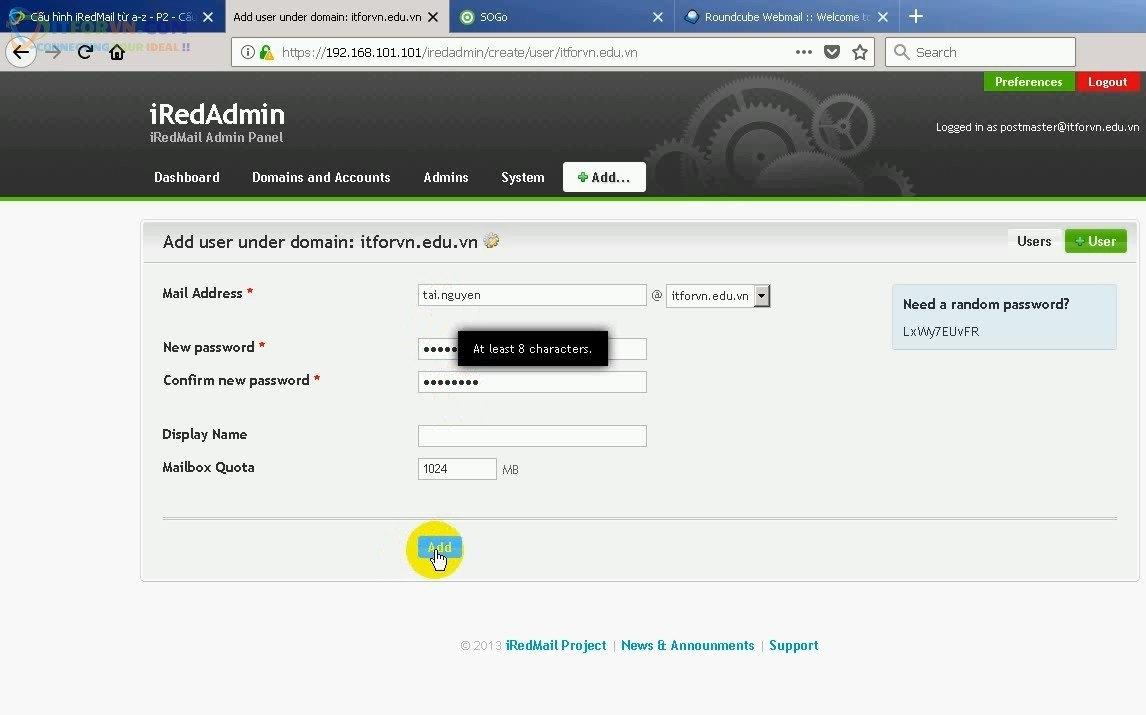 ITFORVN.COM Cau-Hinh-iRedMail-Server-20 Cấu hình iRedMail server toàn tập - Phần 2