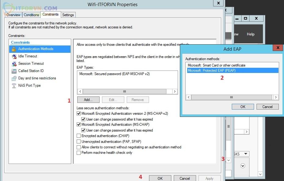 ITFORVN.COM Cau-hinh-Radius-Client-tren-NPS-buoc6 Tính năng MultiSSID trên RADIUS Server