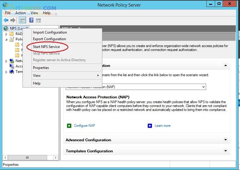 ITFORVN.COM Khoi-dong-NPS Tính năng MultiSSID trên RADIUS Server