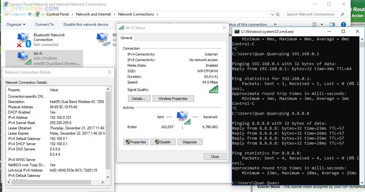ITFORVN.COM Truy-cap-thanh-cong-Wifi-dot1x Tính năng MultiSSID trên RADIUS Server